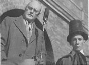 President Clifford B. Jones and Engineering Society president Dosh McCreary at the 1939 Blarney Stone unveiling ceremony.
