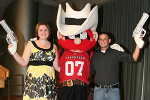 High Rider, Abbey Stark, and Saddle Tramp, Chance Mckee, both served as Raider Red mascots for 2007-2008.