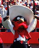 Raider Red was born in 1971, created by the Saddle Tramps from drawings by Dirk West, a Lubbock cartoonist.