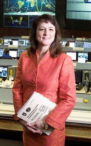 Sally Davis has served in a variety of roles at NASA: Russian Interface Officer, flight design manager, Flight Director and now shuttle safety manager.