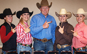 The Ranch Horse Team led by Kris Wilson (center) will compete again in the Spring.