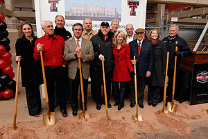 The groundbreaking ceremony at Jones AT&T Stadium kicked off the expansion project expected to be be complete by the 2010 football season