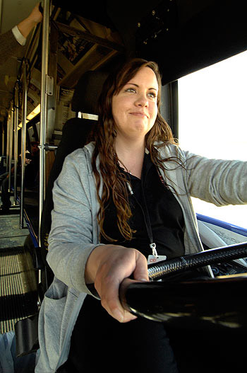 Mannette Breckenridge has driven a Citibus route on campus for nearly two years. She drove the Masked Rider route in 2007-2008. This year, you'll see her behind the wheel of a Double T bus or en route to North Indiana stops.
