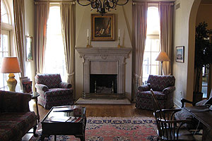 fireplace at old President's Home