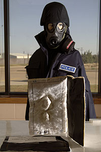 TIEHH's recently developed decontamination wipe will be  used to clean up chemical warfare agents  and toxic chemicals.