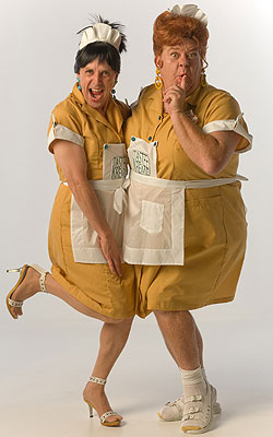 Jaston Williams and Joe Sears are Tastee Kreme waitresses Helen Bedd and Inita Goodwin in the fourth Tuna show,