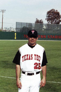 Ruben Felix served as a volunteer coach for the Red Raider baseball team under coach Larry Hays.