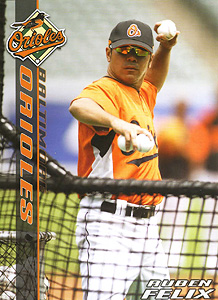 In 2008, Felix joined the Baltimore Orioles as a bullpen assistant.