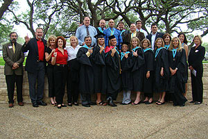 Masters of Education in Educational Leadership graduates at May, 2009 ceremony.