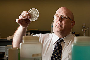 Texas Tech researcher Robert Shaw's article in Chemical  Biology and Drug Design describes a chemical additive that could serve as a chink in the armor of antibiotic-resistant bacteria.
