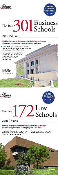 Texas Tech University's School of Law and Rawls College of Business have garnered positions in the 2010 Princeton Review's The Best 172 Law Schools and The Best 301 Business Schools respectively.