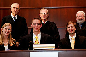 The moot court team took  second in the Illinois Appellate Lawyers National Moot Court  Competition in Chicago.