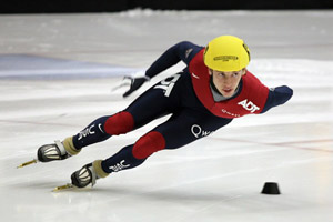 TTUISD graduate Jordan Malone made his Olympic speed skating debut this year in Vancouver.