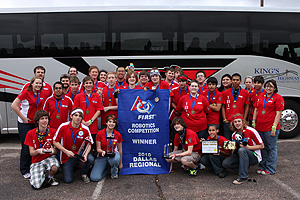 The RoboRaiders won the FIRST Robotics regional competition in Dallas to advance to the championship on April 15-17.