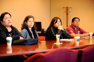During the program, the visiting counselors toured campus and attended financial aid and admissions workshops.
