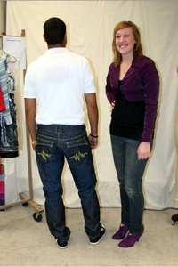 All of the aspiring designers in the competition used denim fabric from PCCA's denim mill in Littlefield.