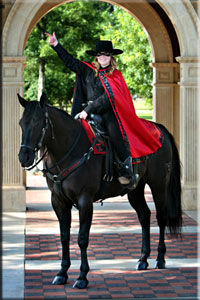 The Masked Rider is one of the most recognizable college mascots in the country.