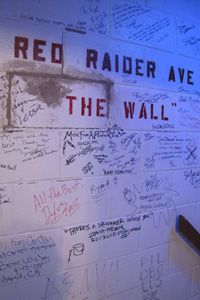 The Wall has been signed by those who have visited the Allen Theatre.