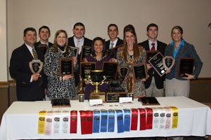 More than 130 points separated the Texas Tech meat judging team from other teams.