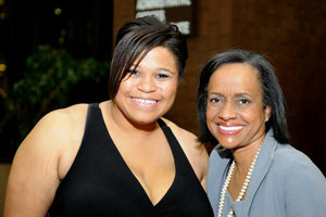 Danielle Ivey with Judge Hatchett at the 2010 Mentor Tech banquet.