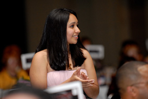 Isamar Marmolejo at the 2010 Mentor Tech banquet.
