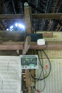 One of the solar instruments installed in the houses.