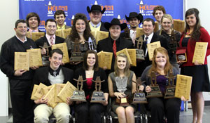 The teams won the beef grading, beef judging, lamb judging, overall beef and specification divisions.