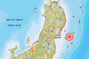 Texas Tech Creates Near Real Time Map Of Japan Quake Aftershocks