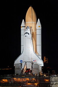 Tumbiolo was lending a watchful eye as Atlantis made its final rollout this morning (June 1).