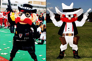 Although Raider Red's looks have changed over the years, Gaspard still favors the original.