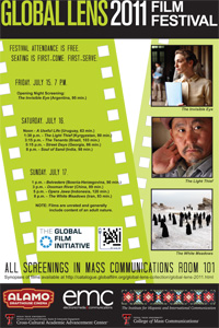 This is the third year the Global Lens series will showcase at the College of Mass Communications.