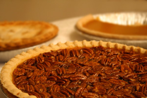 "Whether you say ""puh-cahn"" or ""pee-can,"" grab a slice of your favorite pecan pie."