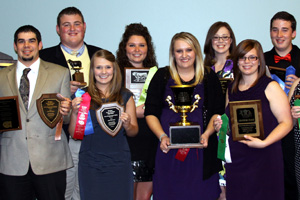 Continuing their winning streak, the team placed first in beef judging and overall beef and second in beef grading and reasons.