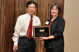 Hongxing Jiang, Edward E. Whitacre Jr. Chair and professor of electrical and computer engineering, was last year's recepient of the award.