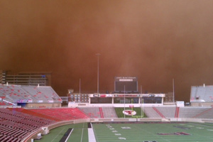 The haboob that recently engulfed Lubbock was caused by a combination of the severe drought conditions and a passing cold front.