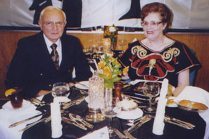 George Tereshkovich boarded the SS Rotterdam with late wife, June. This is a photograph of one of the many dinners the couple enjoyed during their 102-day cruise.
