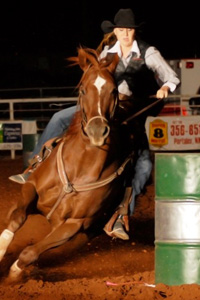 Haley Nelson led the team with her barrel racing win, keeping her at the top of the regional standings.