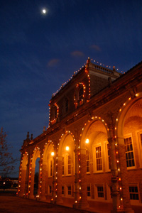 The lights will be on from dusk until midnight through Jan. 1, 2012.
