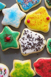 Cookies are one of many snacks available at holiday parties.