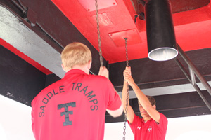 The Saddle Tramps ring the Victory Bells after every Texas Tech athletic victory and for special occassions.