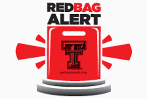 The hope is that the red bags will better denote campus visitors to members of the Texas Tech community.