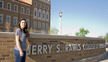 Carlos chose the Texas Tech Rawls College of Business because of its academic reputation and proximity to her hometown.