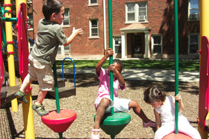 Children are encouraged to be more physically active during the summer.</