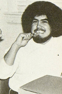 During his college years, Montemayor sported an Afro, which along with his writing, made him stand out on campus.
