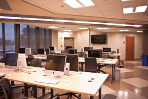 The newly remodeled Media and Communication Building also houses student media, including The Daily Toreador newsroom.