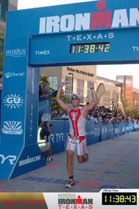 Barrandey's final time in the Texas Ironman was good enough for a top-ten finish in his division.