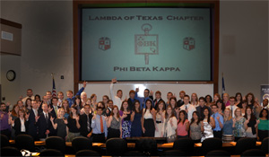 Texas Tech's 2012 Phi Beta Kappa induction class.