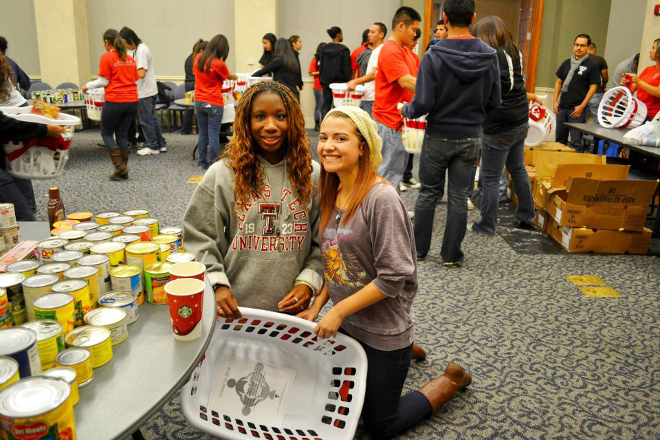 The United to Give event brought together 94 students representing 15 different student organizations.
