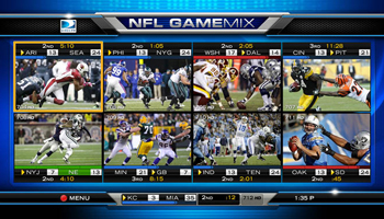 The NFL Game Max Channel allows fans to view many games at once.