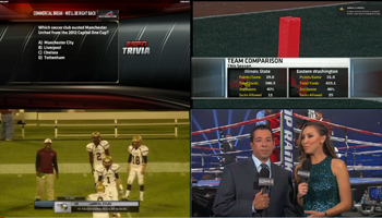 The online video player at ESPN.com allows fans to watch four different sporting events live on one screen.